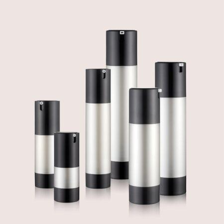 Airless Pump Bottle Black Set PW-202202J