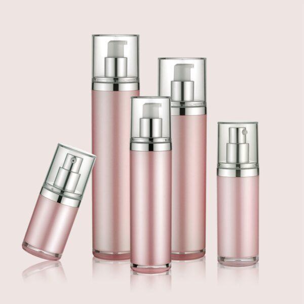 Airless Pump Bottle Pink Set PW-202218A