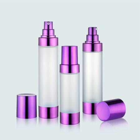 Airless Pump Bottle Purple Set PW-202202F