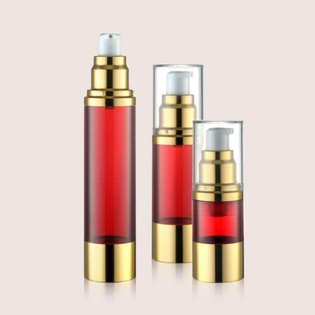 Airless Pump Bottle Red Set PW-202202E