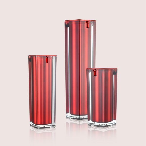 Airless Pump Bottle Red Set PW-202213A