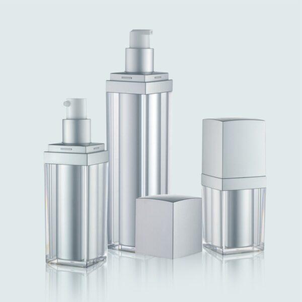 Airless Pump Bottle Silver Set PW-202222A