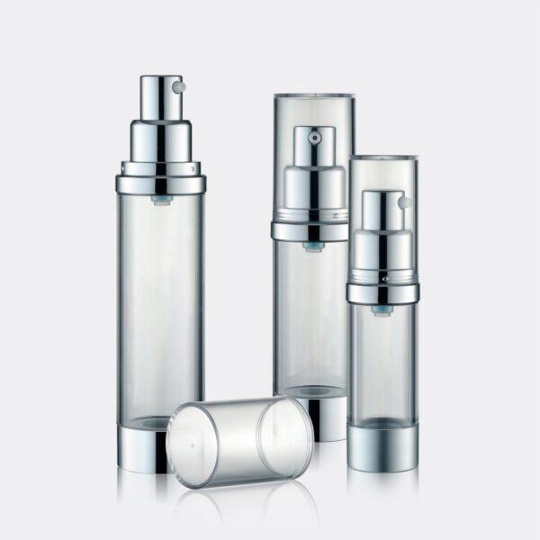 Airless Pump Bottle Silver Set PW-202233A